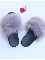 cheap -Women's Slippers Stylish / Casual Faux Fur solid color Shoes