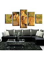 cheap -5 Pieces Printing Decorative Painting  Oil Painting  Home Decorative Wall Art Picture Paint on Canvas Prints Landscape Animals