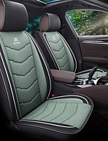 cheap -5 seats Black Four Seasons Car seat cover for Five seat PU Leather Material/Airbag compatibility/Adjustable and Removable/Family car