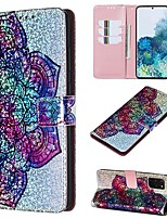 cheap -Case For Samsung Galaxy A50/Galaxy Note 10 / Galaxy Note 10 Plus Wallet / Card Holder / with Stand Full Body Cases Flower PU Leather For Galaxy S20/S20 Plus/S20 Ultra/A50S/A30S/A71