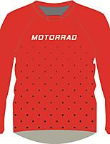 Недорогие -moto gp костюм для езды на мотоцикле красная рубашка для взрослых быстросохнущая футболка с длинными рукавами локомотив грелка из полиэстера / воздухопроницаемая / быстросохнущая майка для мотоцикла
