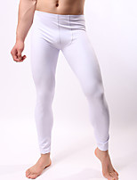 cheap -Men's Normal Nylon Sexy Long Johns Solid Colored Low Waist