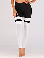 cheap -Women's Yoga Pants Winter Color Block Black Running Fitness Gym Workout Tights Leggings Sport Activewear Moisture Wicking Butt Lift Tummy Control Power Flex High Elasticity Skinny