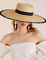 cheap -Straw Straw Hats with Braided Strap 1 Piece Casual / Outdoor Headpiece