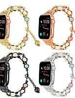 cheap -Theevening Glow Link Bracelet Watch Strap For Apple Watch 38/40mm 42/ 44mm Bracelet  Band  iWatch