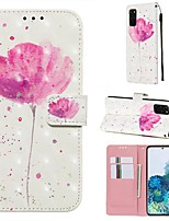 cheap -Case For Samsung Galaxy Samsung Galaxy A50s / Samsung Galaxy A30s / Samsung Galaxy A10s Wallet / Card Holder / with Stand Full Body Cases Flower PU Leather