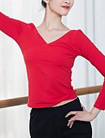 cheap -Latin Dance Tops Women's Training / Performance Modal Split Joint Long Sleeve Top