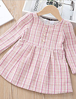 cheap -Kids Girls' Plaid Dress Blushing Pink
