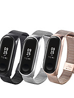 cheap -Watch Band for Mi Band 3 / Xiaomi Mi Band 4 Xiaomi Business Band Stainless Steel Wrist Strap