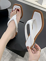 cheap -Women's Sandals Low Heel Pointed Toe PU Spring & Summer Green / White / Wedding
