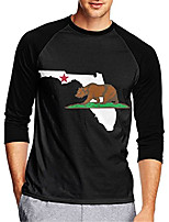 cheap -21Grams Men's Long Sleeve Cycling Jersey Downhill Jersey Dirt Bike Jersey 100% Polyester Black Animal California Republic Bike Jersey Top Mountain Bike MTB Road Bike Cycling UV Resistant Breathable