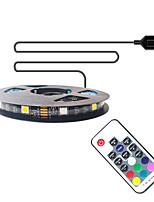 cheap -1m TV Background Light Strip Flexible LED Light Strips  RGB Strip Lights 30 LEDs SMD5050 10mm 1 17Keys Remote Controller 1 set Multi Color Waterproof  USB  Self-adhesive 5 V