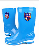 cheap -Women's Boots Flat Heel Round Toe PVC Mid-Calf Boots Spring & Summer / Fall & Winter Blue