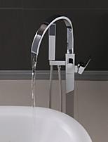 cheap -Handshower Included Contemporary Chrome Free Assemblement Ceramic Valve Bath Shower Mixer Taps-Shower System Set