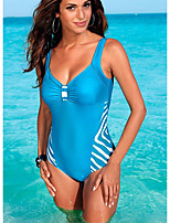 cheap -Women's Blue Bikini Swimwear Swimsuit - Color Block M L XL Blue