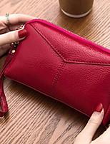 cheap -Women's Zipper PU Clutch Solid Color Black / Red