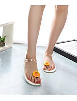 cheap -Women's Sandals Katy Perry Sandals Flat Heel Open Toe PU Summer White / Black / Gray