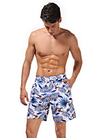 cheap -Men's Swim Shorts Swim Trunks Bottoms Breathable Quick Dry Swimming Beach Water Sports 3D Print Summer / Micro-elastic
