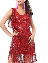cheap -Latin Dance Dresses Women's Performance Polyester Tassel / Paillette Dress
