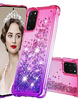cheap -Case For Samsung Galaxy Samsung Galaxy A50s / Samsung Galaxy A30s / Samsung Galaxy A10s Shockproof / Flowing Liquid / Transparent Back Cover Color Gradient / Glitter Shine TPU