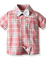 cheap -Kids Boys' Basic Plaid Short Sleeve Shirt Blushing Pink