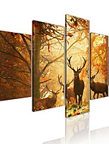 cheap -AMJ hot sale autumn elk pentagram living room sofa background wall decoration canvas painting frameless painting core