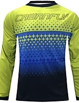 cheap -CAWANFLY Men's Long Sleeve Cycling Jersey Polyester Black Novelty Bike Top Mountain Bike MTB Quick Dry Sports Clothing Apparel / Expert / Stretchy