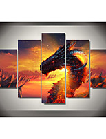 cheap -5 Panels Modern painting Artwork Canvas Prints Stretched  home decor   Modern Art Prints