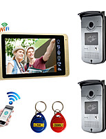 cheap -Wired & Wireless 7 inch Hands-free 1024*600 Pixel Two to One video doorphone