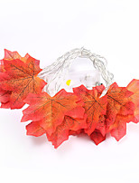 cheap -Maple Leaf LED Light String New Christmas Day Pendant Leaf Battery Light String Garden Party Room Decoration Light