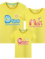 cheap -Family Look Letter Tee Yellow