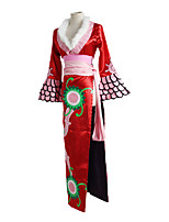 cheap -Inspired by One Piece Boa Hancock Anime Cosplay Costumes Japanese Cosplay Suits Cheongsam For Women's