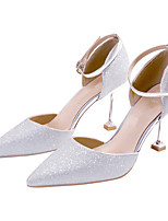 cheap -Women's Wedding Shoes Stiletto Heel Pointed Toe Sequin Synthetics Sweet Spring &  Fall / Spring & Summer Gold / Pink / Silver / Party & Evening / Color Block