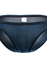 cheap -Men's Basic Briefs Underwear - Normal Low Waist Black Purple Orange M L XL