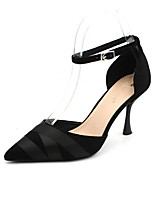 cheap -Women's Heels Stiletto Heel Pointed Toe Suede Spring & Summer Black