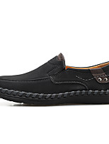 cheap -Men's Faux Leather / Cowhide Spring & Summer / Fall & Winter Business / Casual Loafers & Slip-Ons Walking Shoes Waterproof Light Brown / Dark Brown / Black