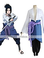 cheap -Inspired by Naruto Uchiha Sasuke Anime Cosplay Costumes Japanese Cosplay Suits Top Skirt Pants For Women's / Belt / Wrist Brace