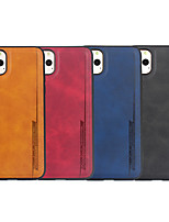 cheap -Case For Apple iPhone 11 / iPhone 11 Pro / iPhone 11 Pro Max Ultra-thin Back Cover Solid Colored PU Leather