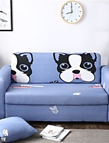 cheap -Cartoon Pet Dog Print Dustproof All-powerful Slipcovers Stretch Sofa Cover Super Soft Fabric Couch Cover with One Free Pillow Case
