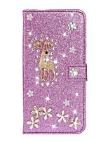 cheap -Case For Samsung Galaxy A51 A31 A71 Wallet / Card Holder / with Stand Full Body Cases Glitter Shine Deer PU Leather Case For Samsung A70E A41 A11 A21 A91 A81 A20e A10e A50s A30s A70s A20 M20 M10 A750