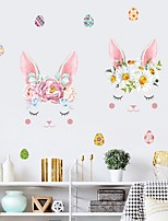 cheap -Bunny Easter Wall Stickers Plane Wall Stickers Decorative Wall Stickers, PVC Home Decoration Wall Decal Wall Decoration 1pc