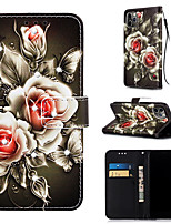 cheap -Case For Apple iPhone 11 / iPhone 11 Pro / iPhone 11 Pro Max Wallet / Card Holder / with Stand Full Body Cases Flower PU Leather for iPhone XS MAX XR XS X 8 PLUS 7 PLUS 6 PLUS 8 7 6S
