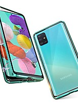 cheap -Magnetic Double Sided Case For Samsung Galaxy A81 / M60S / A11 / M31 Shockproof / Water Resistant / Transparent Tempered Glass / Metal Case For Samsung Galaxy S20 Plus /Note 10 Plus/M40S/A71/S20 Ultra