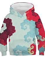 cheap -Kids Boys' Basic Street chic Color Block 3D Print Long Sleeve Hoodie & Sweatshirt White