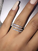 cheap -Women's Ring AAA Cubic Zirconia 1pc Silver Alloy Fashion Wedding Party Jewelry