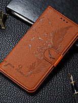 cheap -Case For Samsung Galaxy S9 / S9 Plus / A6 (2018) Wallet / Card Holder / with Stand Full Body Cases Feathers PU Leather