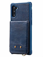cheap -Case For Samsung Galaxy S9 / S9 P/S10/S10E/S10 5G /S10P/ Note 9/10/10P Wallet  Shockproof Back Cover Solid Colored PU Leather