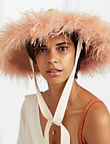 cheap -Straw Straw Hats with Feather 1 Piece Causal / Casual Headpiece