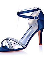 cheap -Women's Wedding Shoes Stiletto Heel Open Toe Sparkling Glitter Satin Minimalism Spring & Summer White / Purple / Red / Party & Evening