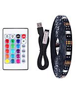 cheap -4m TV Background Light Strip Flexible LED Light Strips / RGB Strip Lights 120 LEDs SMD5050 10mm 1 24Keys Remote Controller 1 set Multi Color Waterproof / USB / Self-adhesive 5 V